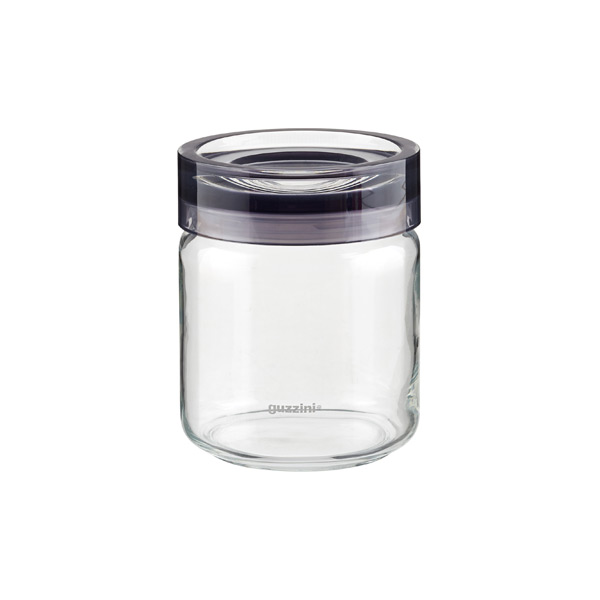 25 oz. Grigio Glass Canister Grey Acrylic Lid