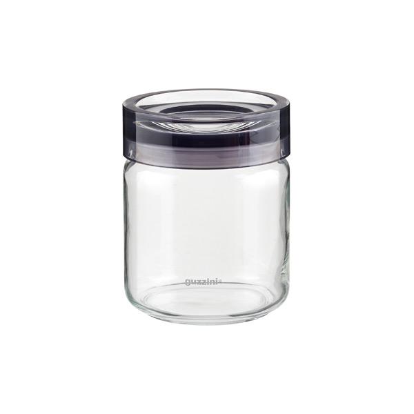 Guzzini 25 oz. Grigio Glass Canister Grey Acrylic Lid