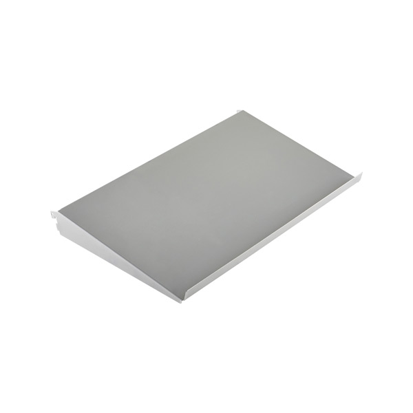 "2' x 13-3/4"" x 2"" h elfa Angled Solid Metal Shelf Platinum"