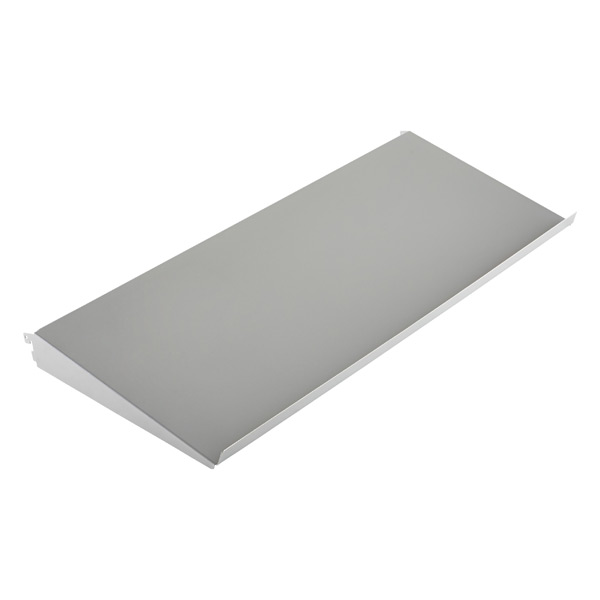 "3' x 13-3/4"" x 2"" h elfa Angled Solid Metal Shelf Platinum"