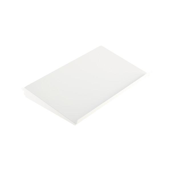 "2' x 13-3/4"" elfa Angled Solid Metal Shelf White"