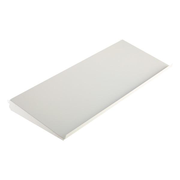 "3' x 13-3/4"" elfa Angled Solid Metal Shelf White"