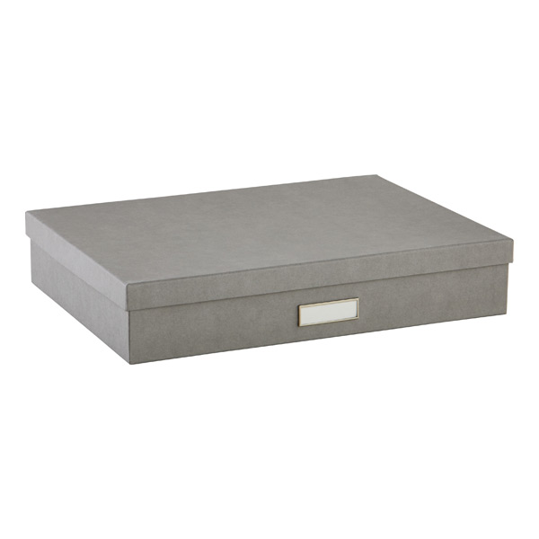 Bigso Stockholm Document Box Grey