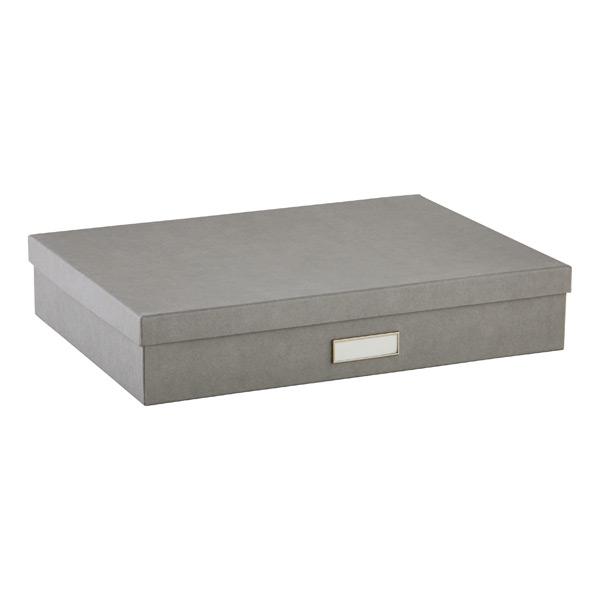 Bigso Stockholm Document Box Grey