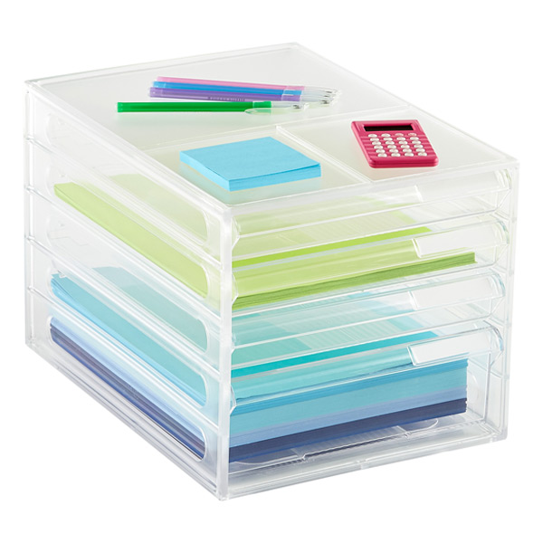 Paper Organizer 4 Drawer Desktop Paper Organizer The