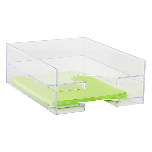Palaset Clear Stackable Letter Tray