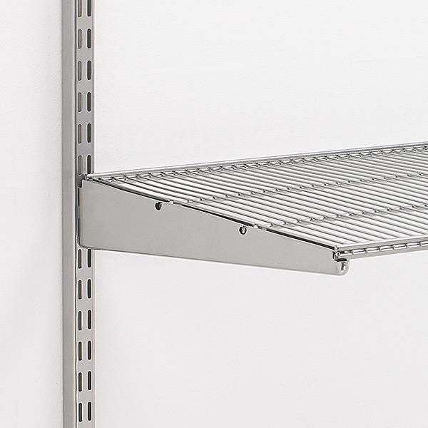Marvelous Platinum Elfa Ventilated Wire Shelf Brackets