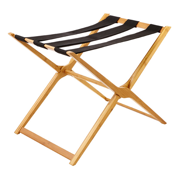 Bamboo Luggage Rack | The Container Store
