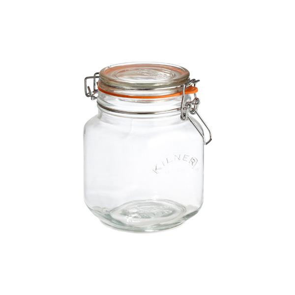 34 oz. Square Hermetic Storage Jar 1 ltr.