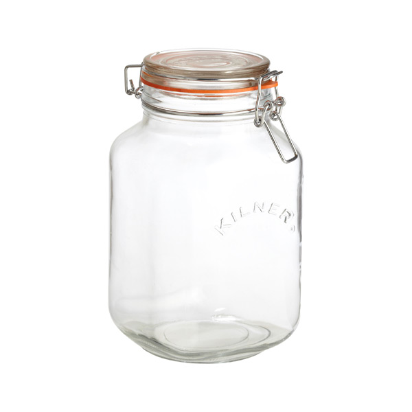 2.1 qt. Square Hermetic Storage Jar 2 ltr.