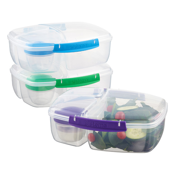 Sistema Lunch Triple Split Bento Box