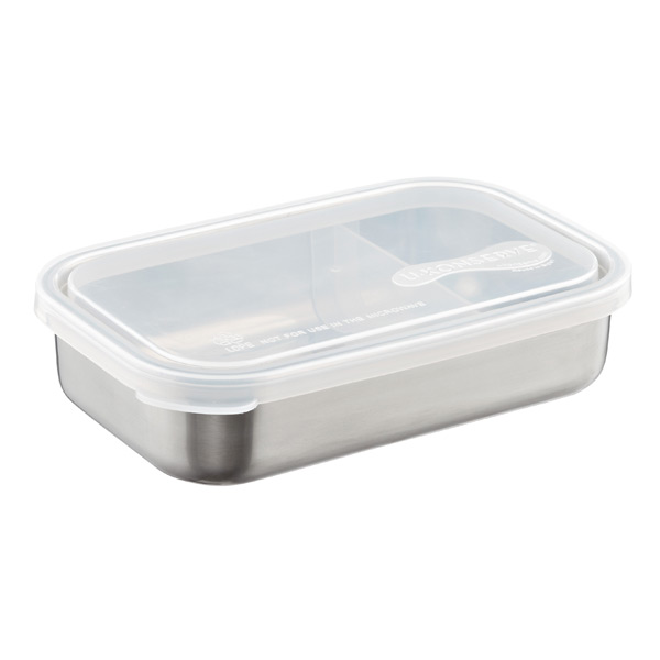 25 oz. Stainless Steel Divided-to-Go Container