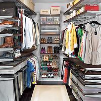 Walnut & Platinum Walk In Master Closet