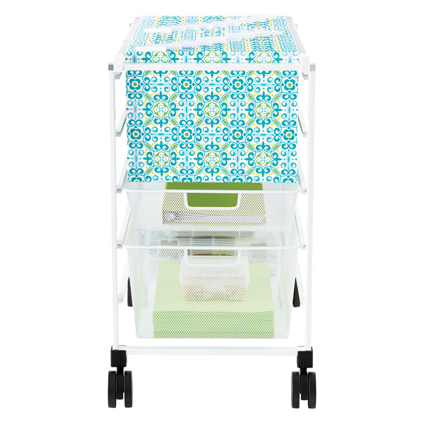 File Cart - White elfa Mesh File Carts | The Container Store