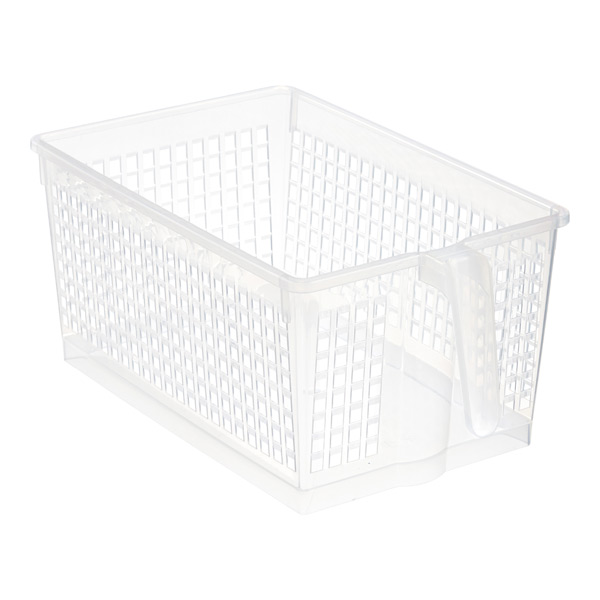 Large Handled Storage Basket Clear