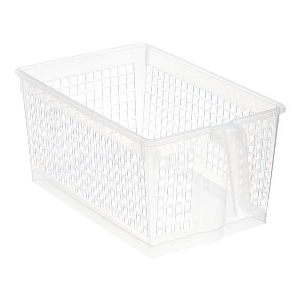 Large Handled Storage Basket Clear