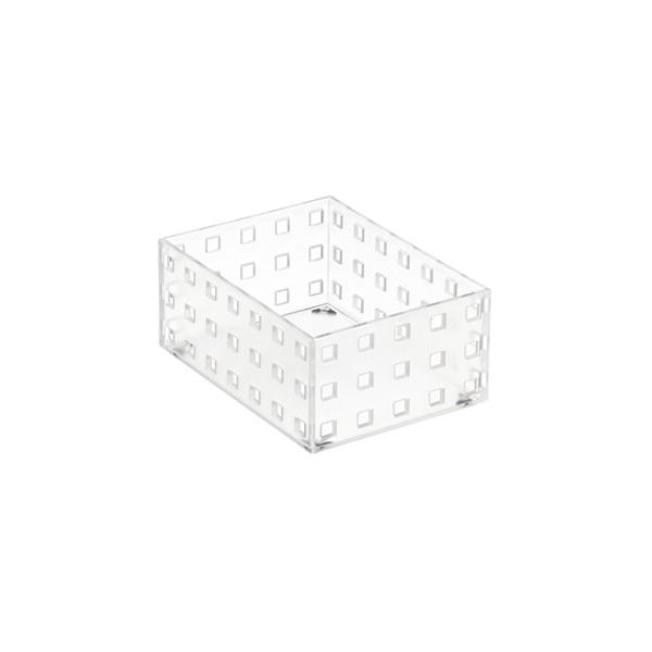 "like-it Bricks 4"" Medium Short Bin Translucent"