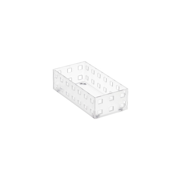 "Like-it Bricks 5-1/2"" Narrow Shallow Bin Translucent"