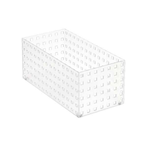 "Like-it Bricks 11"" Medium Tall Bin Translucent"