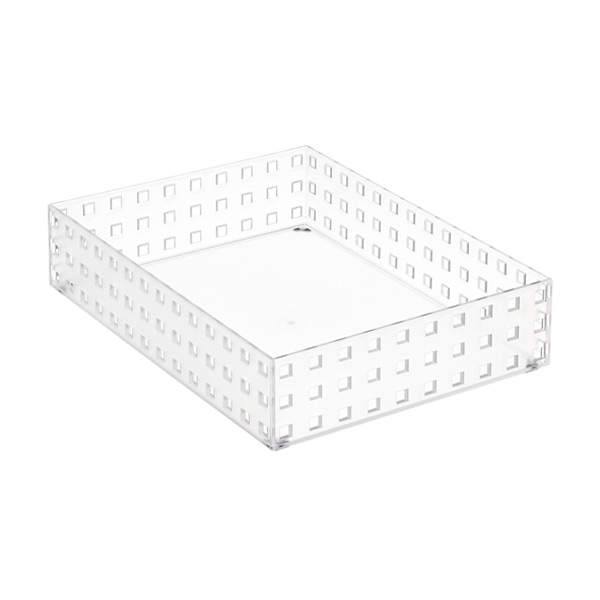 "Like-it Bricks 11"" Wide Short Bin Translucent"
