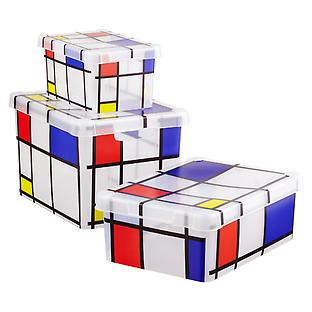 Mondrian Storage Boxes with Lids