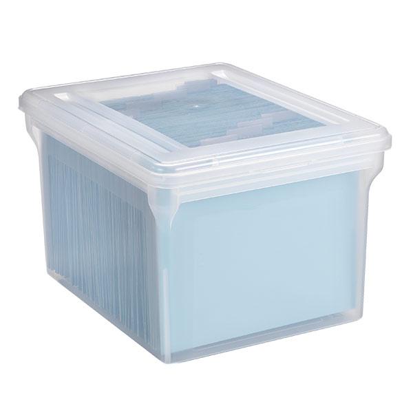File Tote Box Translucent
