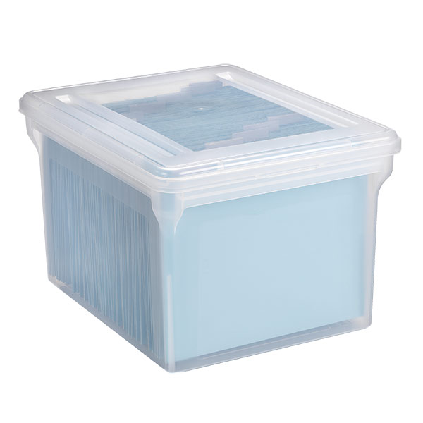 Genial Clear Stackable File Tote Boxes