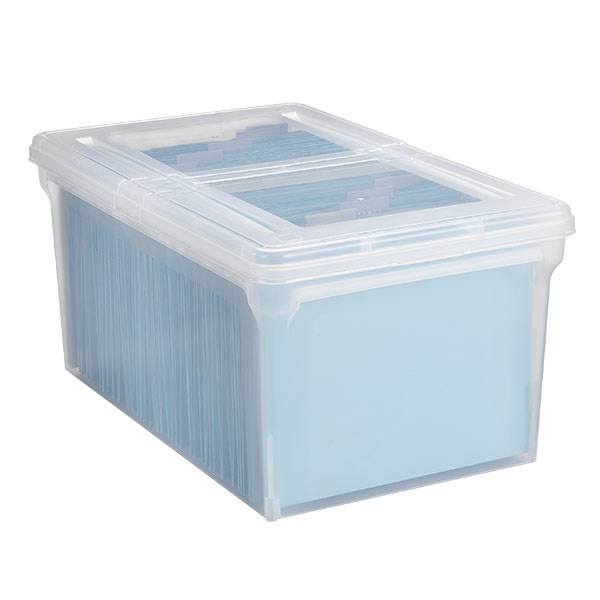 ... X Large File Tote Box Translucent