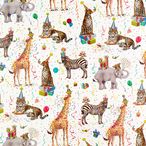 wild birthday animals wrapping paper the container store