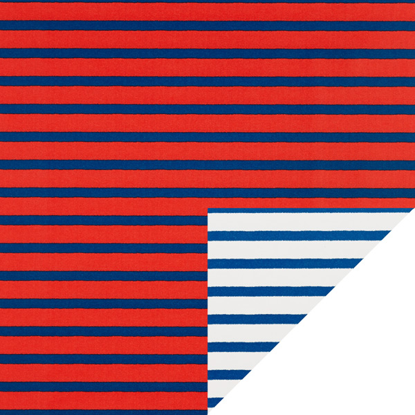 Red & Blue Stripe Reversible Wrapping Paper