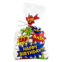 Comic Book Birthday Cello Bags