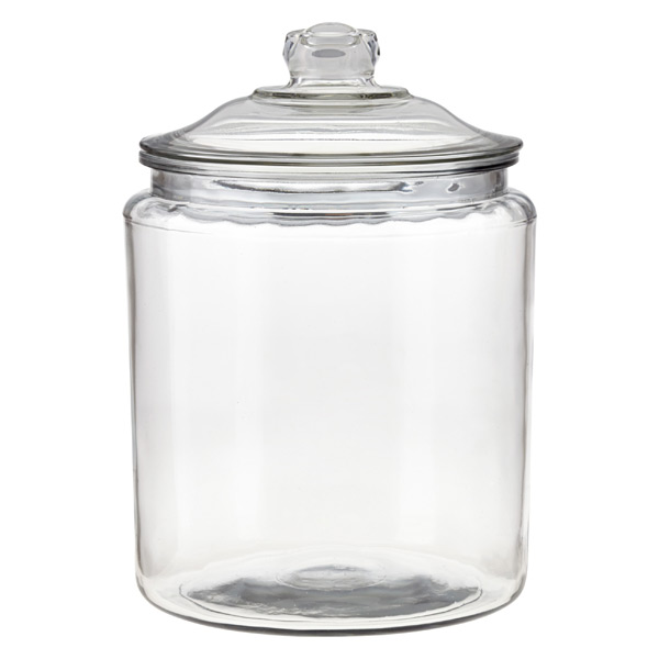 2 gal. Glass Canister Glass Lid
