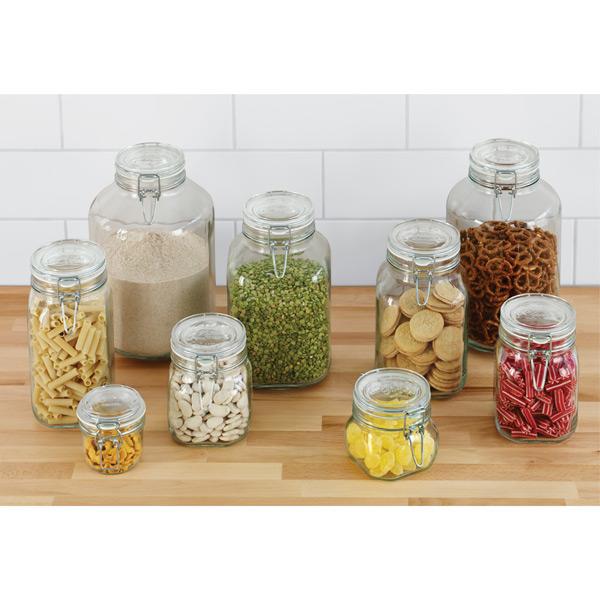 Kitchen Storage Bottles: Storage Jars - Hermetic Glass Storage Jars