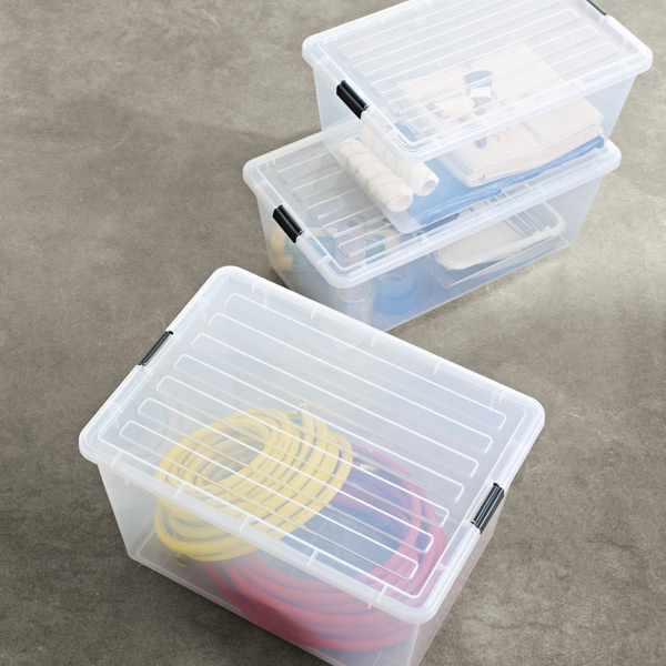 Charmant Clear Tote With Locking Lid