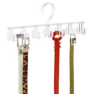 InterDesign Clarity Horizontal Tie & Belt Rack