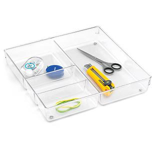 iDesign Linus 4-Section Drawer Organizer