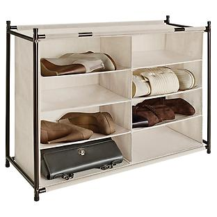 8-Section Shoe & Purse Cubby