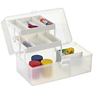 Clear Hobby Organizer Case with Handle