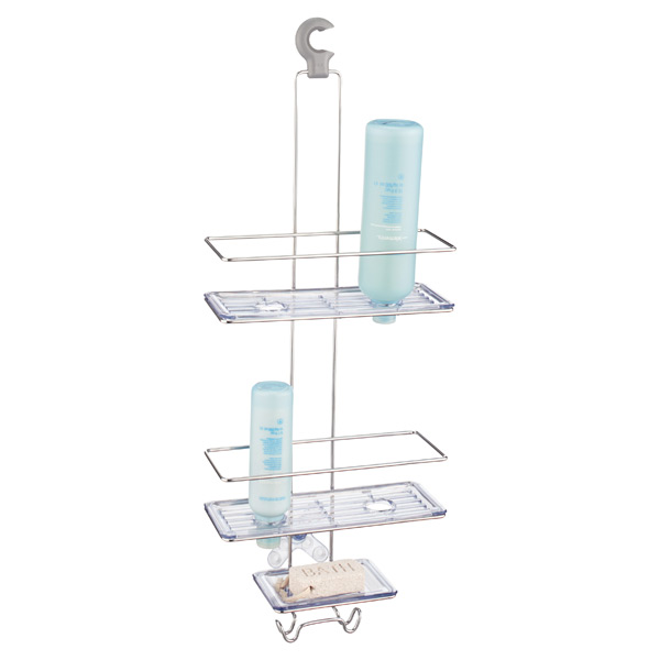 OXO Good Grips Stainless Steel 3-Tier Shower Caddy | The Container Store