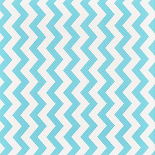 Aqua Wide Chevron Treeless Wrapping Paper