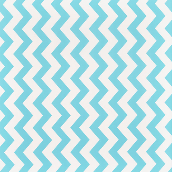 Aqua Wide Chevron Treeless Wrapping Paper | The Container Store