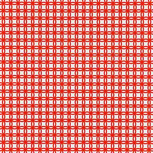 Orange Interlocking Circles Treeless Wrapping Paper