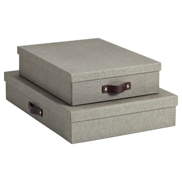 Bigso Marten Grey Office Storage Boxes