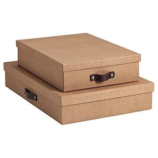 Bigso Marten Chestnut Office Storage Boxes