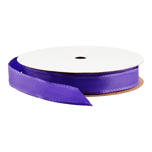 "5/8"" Bright Purple Wired Ribbon"
