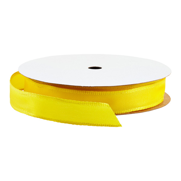 5/8 Bright Yellow Wired Ribbon