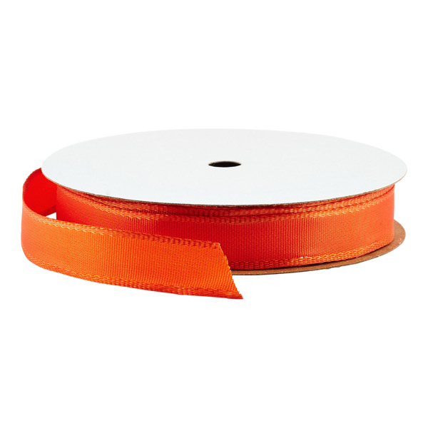 5/8 Bright Orange Wired Ribbon