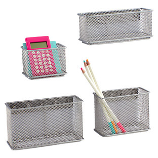 Magnetic Bins Silver Magnetic Mesh Bins The Container