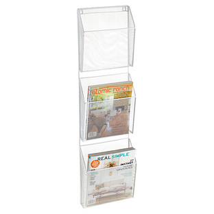 White Mesh 3-Pocket Wall Organizer