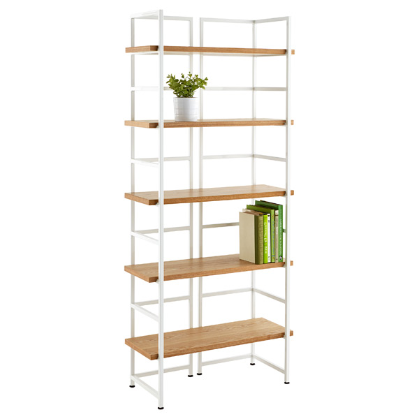 ash connections 5 shelf bookshelf the container store. Black Bedroom Furniture Sets. Home Design Ideas